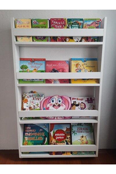Azra Mobilya Çocuk Odası Eğitici Derin Montessori Kitaplık 4 Raflı
