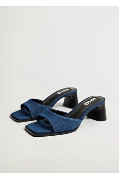 Kadın Topuklu Kot Sandalet