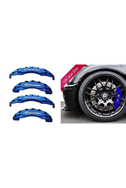 SAHLAN Mitsubishi Uyumlu Araçlarına Fren Disk Kaliper Kapağı Mavi 4'lü Yağ Hortumlu