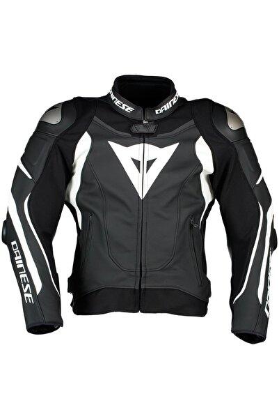 Dainese Super Speed 3 Black White Deri Motosiklet Montu