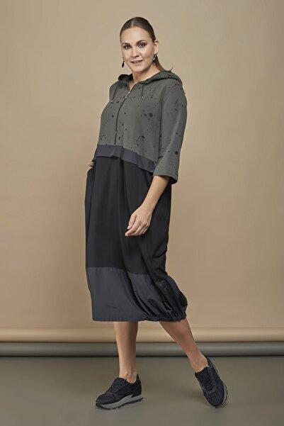 Zedd+ Plus Zedd 19511 Elbise-haki