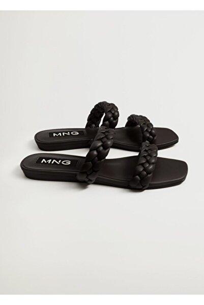 MANGO Woman Kadın Siyah Sandalet