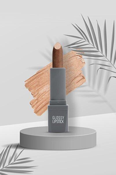Alix Avien Kahverengi Ruj Glossy Lipstick 110