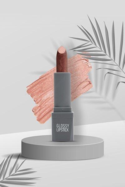 Alix Avien Kahverengi Ruj Glossy Lipstick 111