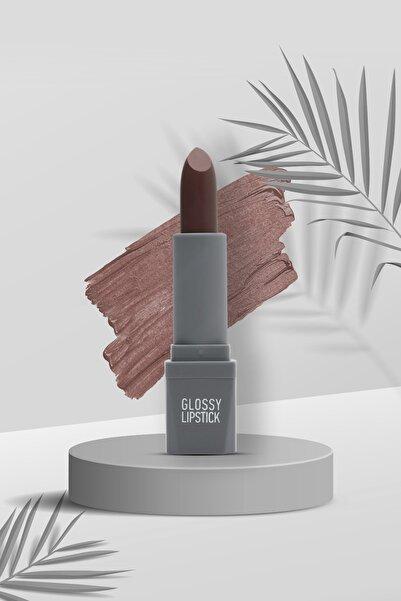 Alix Avien Kahverengi Ruj Glossy Lipstick 112