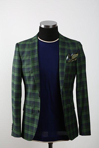 Sarar Erkek Yeşil Ekose Ceket