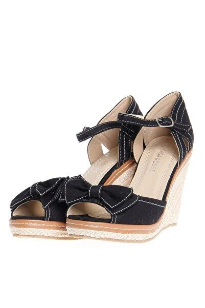 Ves Kadın Siyah Topuklu Ayakkabı