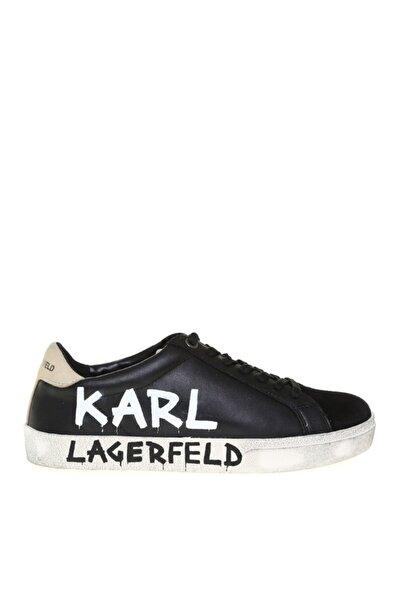 Karl Lagerfeld Kadın Siyah Logo Baskılı  Casual Ayakkabı