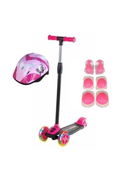 Cool Wheels Kız Çocuk Pembe Led Işıklı 3 Tekerlekli Twist Scooter Full Set