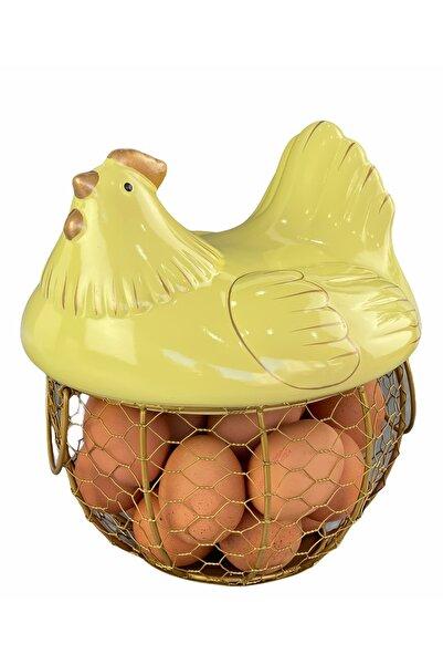 AROW Polyester Metal Lüx Sarı Tavuk Yumurta Sepeti