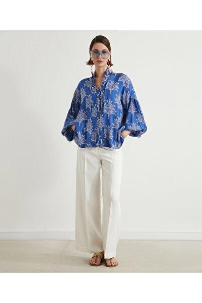 İpekyol Yaka Detaylı Oversize Bluz