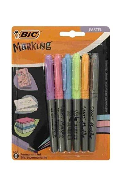 Bic Marking Color Permanent Marker Pastel Renkler 6`lı Blister