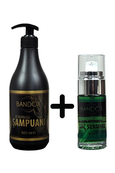 """BANDOX At Kuyruğu Şampuanı 500 Ml+Çam Terebentin Saç Serumu 40 ml""""Çabucak Saç Uzatan Serimiz"""""""