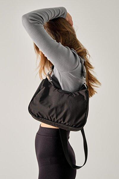 Shule Bags Paraşüt Kumaş Kol Çantası Katrine Siyah