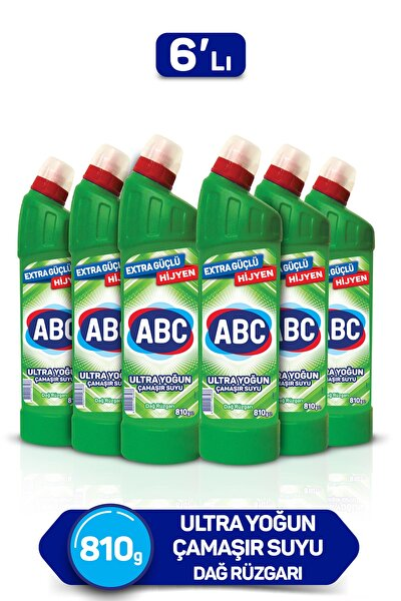 ABC Ultra Çamaşır Suyu 810g Dağ Rüzgarı 6'lı Paket