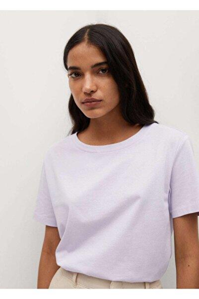 MANGO Woman Kadın Organik Pamuklu Basic Tişört