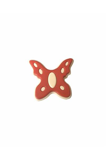 Nobel Kırmızı Kelebek Bebek Çocuk Genç Odası Kulpları Dolap Çekmece Mobilya Kulpu