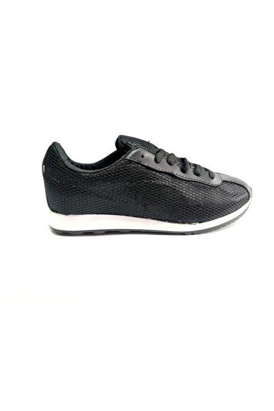 sert vip Unisex Siyah Beyaz Fileli Spor Ayakkabı