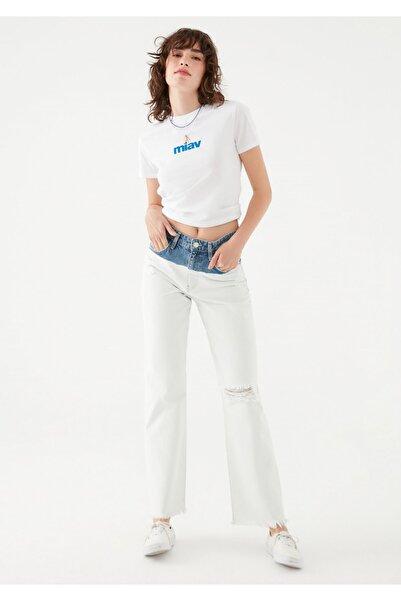 Mavi Kadın Barcelona Nazar Boncuğu Detaylı Batik Jean Pantolon 101047-35279