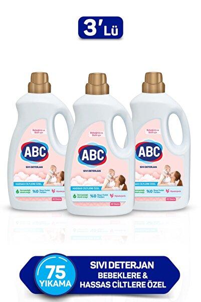ABC Bebeklere Hassas Ciltlere Özel Sıvı Çamaşır Deterjanı 1.5ltx3 Adet