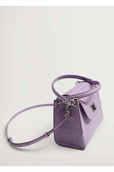 MANGO Woman Kapaklı Çift Askılı Çanta