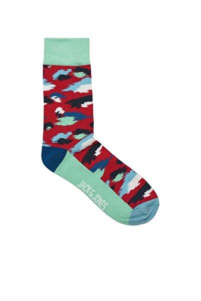 Jack & Jones Unisex Kırmızı Renkli Baskılı Çorap 12189921