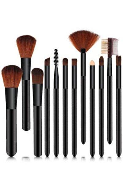 Silindir Model 12'li Fırça Seti, Kutulu Siyah Renk