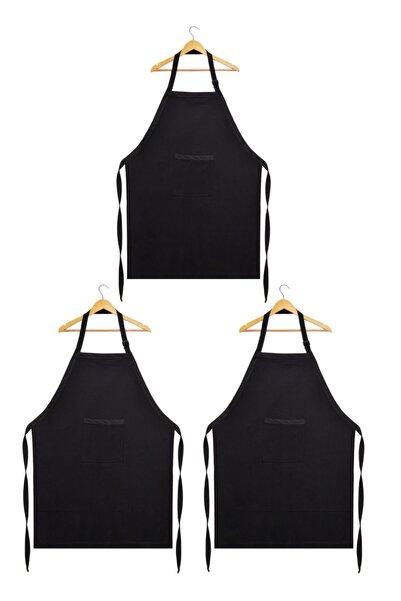 Fidan Tekstil Denizli 3 Adet Garson Aşçı Şef Mutfak Önlüğü Kemerli Gabardin Kumaş