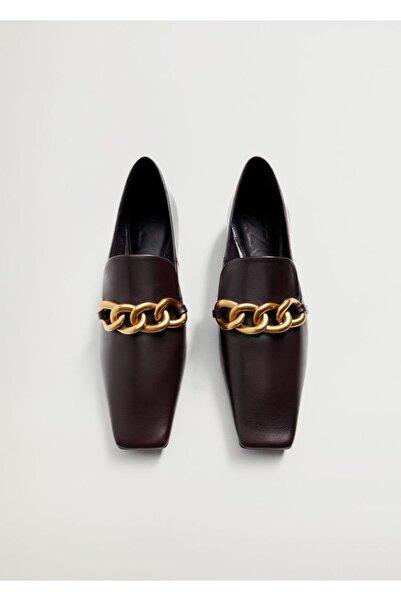 MANGO Woman Kadın Bordo Ayakkabı