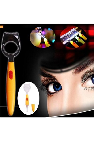 Bifirsat Işıklı Göze Rimel Sürme Göz Makyajı Aparatı Makyaj Şablonu