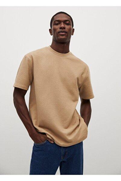MANGO Man Erkek Relaxed Kesim Pamuklu Tişört