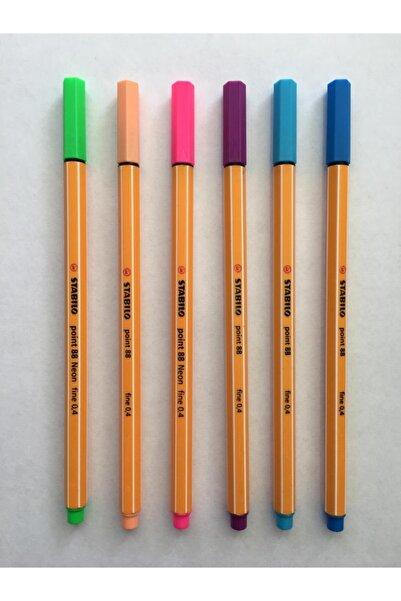 Stabilo Renkli Point 88 Fineliner Keçeli Kalem 6'lı Set