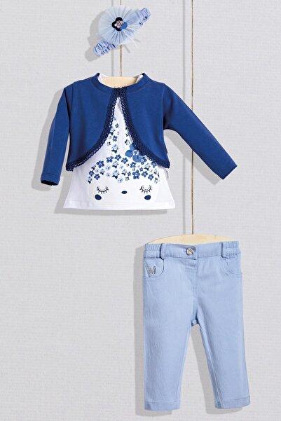 Wogi Kız Bebek Tişört Bolero Pantolon 4lü Set 3-36 Ay WG20S-5452