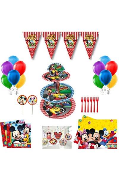 Mickey Mouse Rest Parti - Doğum Günü Parti Süsleme Seti 10 Kişilik