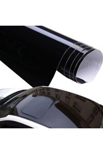 KRCDİJİTAL Parlak Siyah Hava Kanallı Jelatinli Tavan Folyosu 50x152 cm