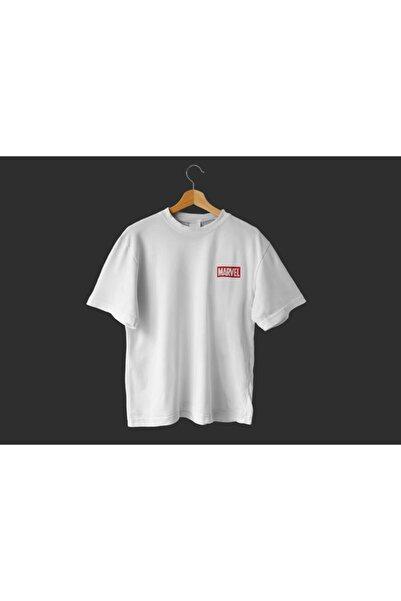 MARVEL Unisex Beyaz Oversize T-shirt