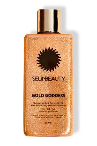 Selin Beauty Çok Amaçlı Parlak Kuru Yağ - Gold Goddess Shimmering Multi Purpose Dry Oil 100 ml