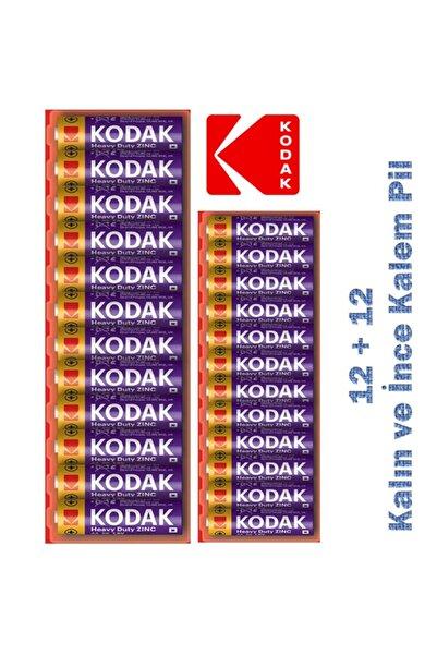 Kodak Çinko Karbon Ekonomik Pil Set 12 Aa + 12 Aaa