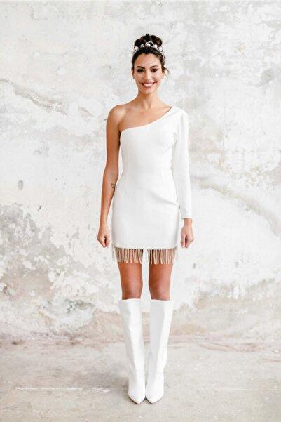 Hello Bride Kadın Beyaz Lucille After Parti Elbisesi