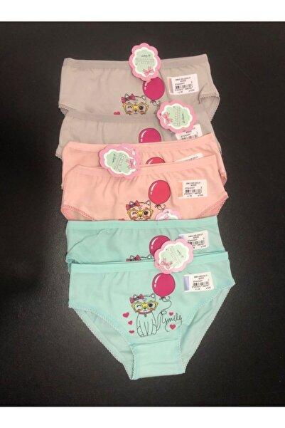 Berrak Kız Çocuk Külot Renkli 6'lı Paket