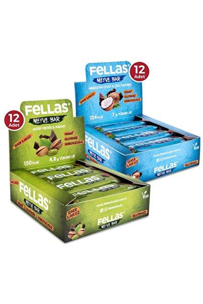 Fellas Meyve Bar 40 G Süper İkili Kutu 24 Adet - Antep Fıstıklı X 12 Adet + Hindistan Cevizli X 12 Adet