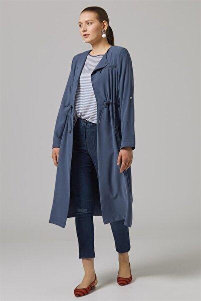 Tuğba Yaka Broşlu Giy-çık-indigo Tk-u6809-7