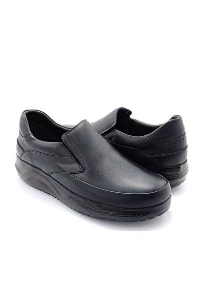 Delta Erkek Hakiki Deri Siyah Günlük Ayakkabı