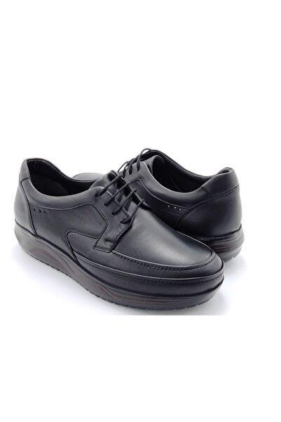 Delta Erkek Siyah Hakiki Deri Bağcıklı Günlük Ayakkabı