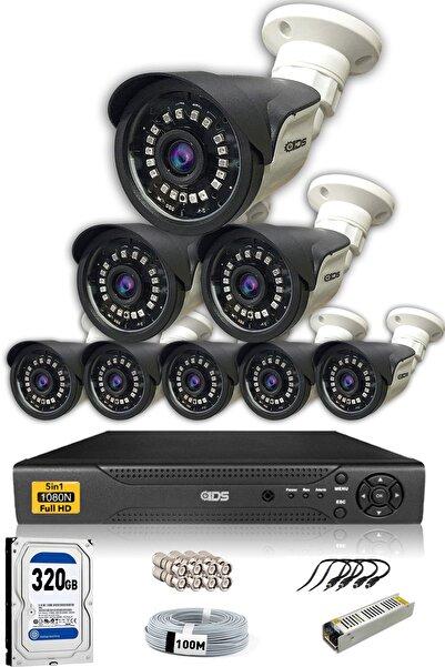 IDS 8 Kameralı Set - 5mp Sony Lensli Full Hd Gece Görüşlü Güvenlik Kamerası Sistemi - Cepten Izle