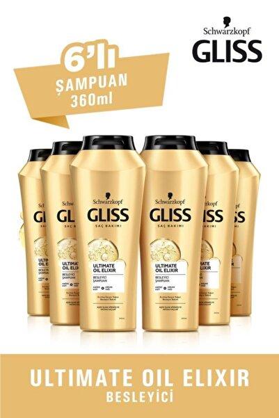 Gliss Ultimate Oil Elixir Besleyici Şampuan 360 ml 6'lı
