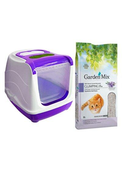 Petgarden Kapalı Kedi Tuvaleti + 10 Lt Kedi Kumu