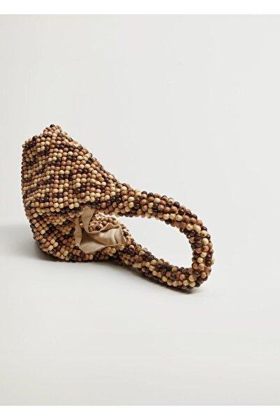 MANGO Woman Boncuklu Mini Çanta