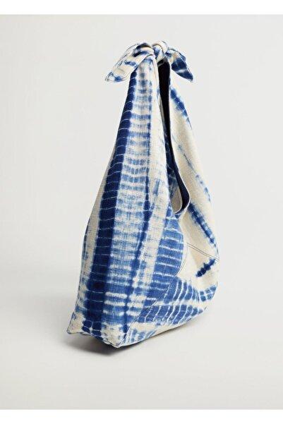 MANGO Woman Batik Bucket Çanta