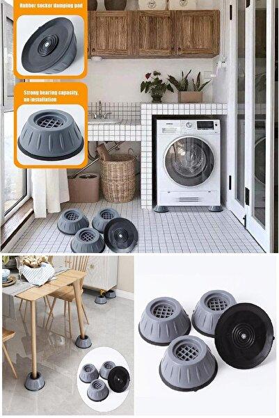 BİTERSE 4 Adet Çamaşır Makinesi Titreşim Önleyici Kaydırmaz Vantuzlu Stoper Set